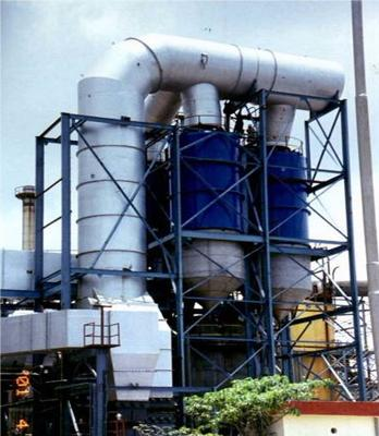 System of the centrifugal scrubbers for dust removal